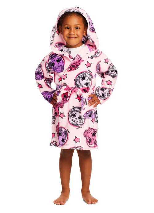 LOL Surprise Girls Bathrobe Pink Fleece Sleepwear