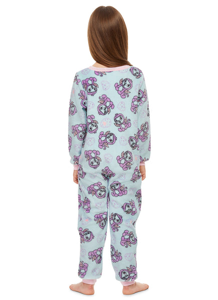 Hatchimals Girls Sleeper Onesie | Fleece Pajamas for Kids