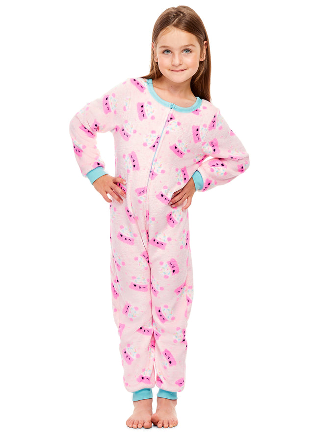 Num Noms Girls Sleeper Onesie | Fleece Pajamas for Kids