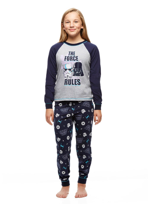 Star Wars The Force Rules Big Girls 2-Piece Pajama Set