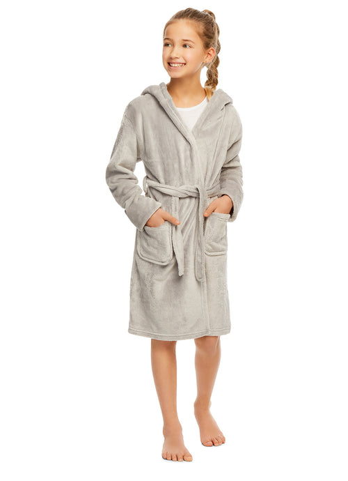 Girls 3D Character Fleece Sleep Robe Soft & Cozy Kids Bathrobe