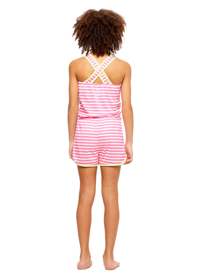 Girls Knit Pajamas Romper, by Jellifish Kids Panda