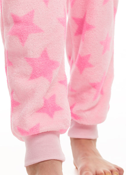 Girls Pajamas | Plush Zippered Cat Kids Onesie Blanket Sleeper
