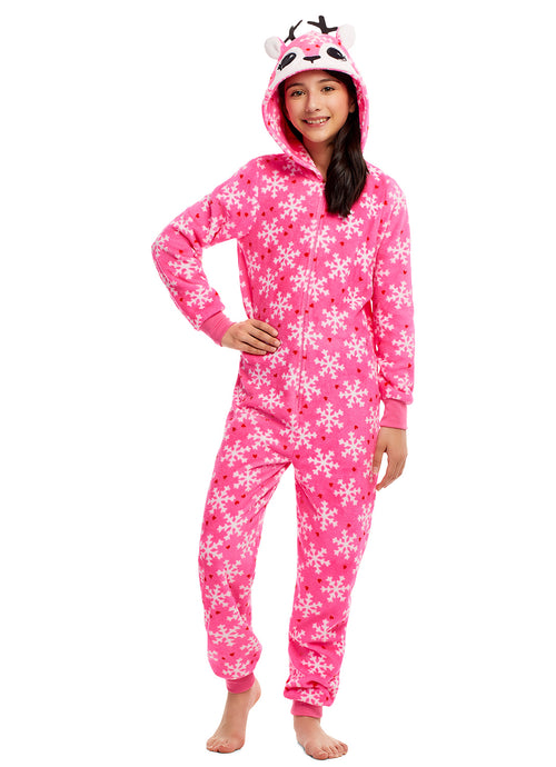 Toddlers & Girls Pajamas, Blanket Sleeper Onesies with 3D Deer Hood
