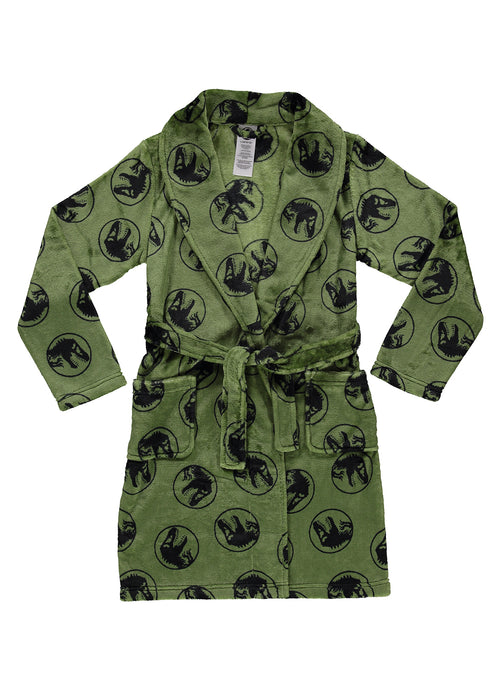 Jurassic World 2 Boys Fleece Sleep Robe | Soft & Cozy Kids Bathrobe