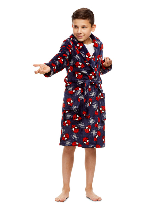 Spider-Man Boys Fleece Sleep Robe | Soft & Cozy Kids Bathrobe