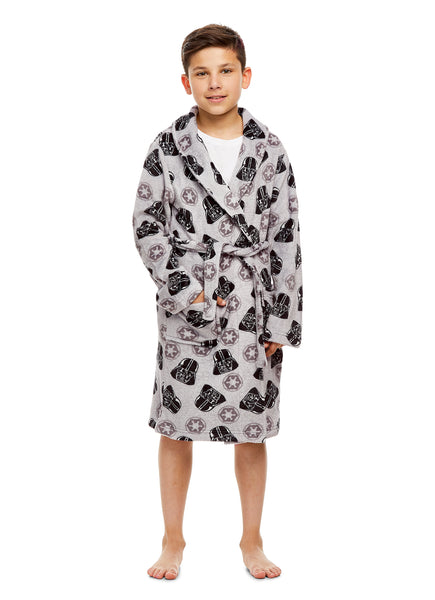 Boys Grey Fleece Bathrobe (Star Wars Darth Vader)
