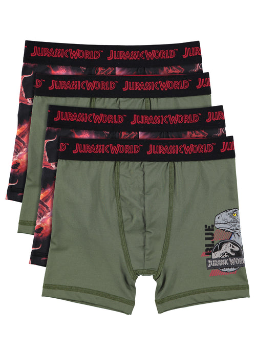 Jurassic World 2 Boys Boxers | Pack of 4 Kids Underwear