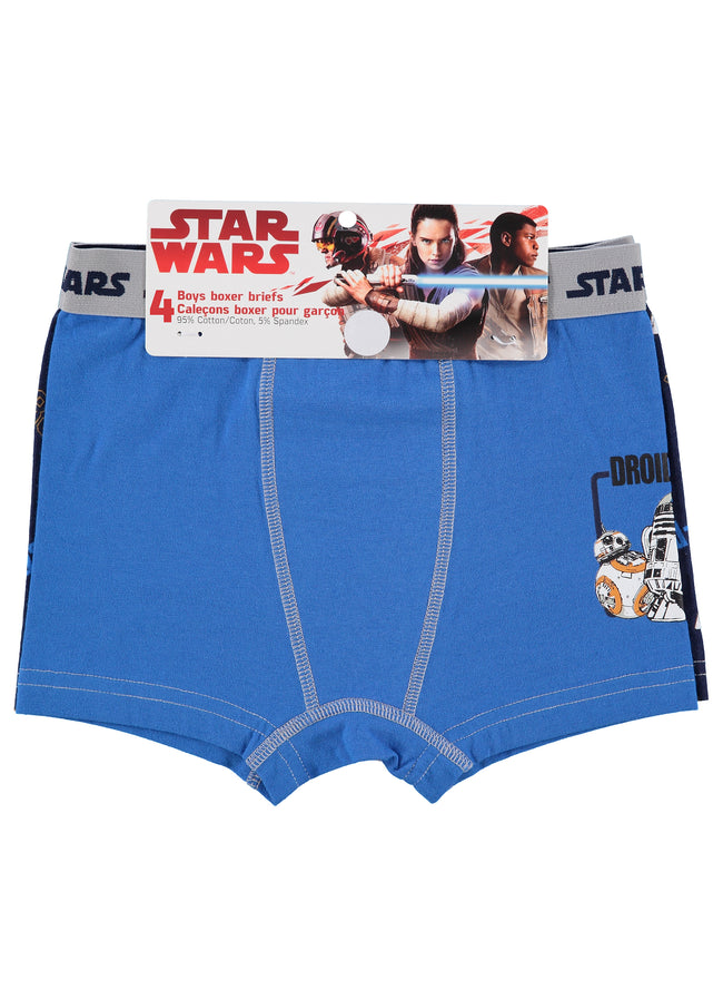 Star Wars Boys Boxers | Pack of 4 Kids Underwear