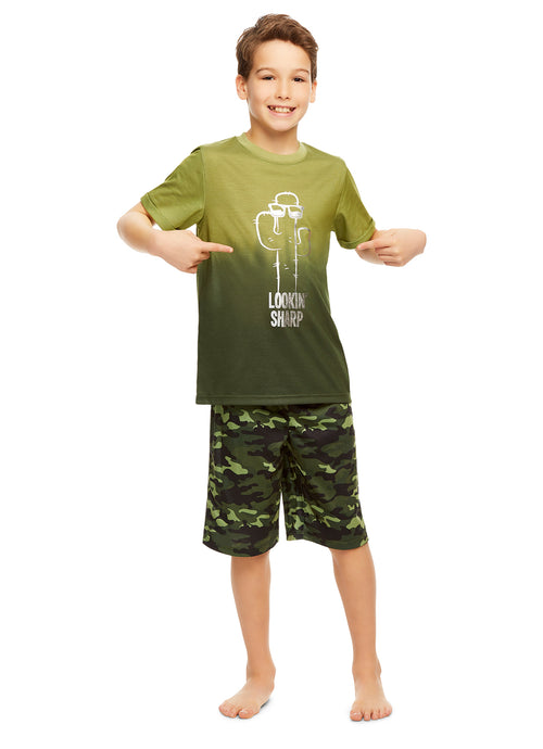 Boys 2-Piece Pajama Set (Cactus)