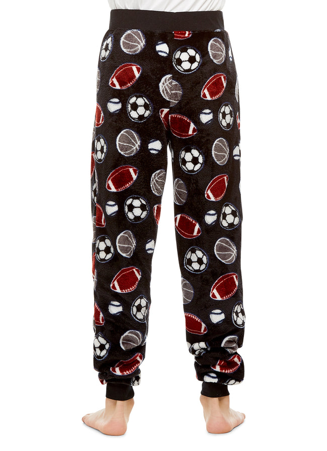 Boys Pajama Bottoms | Cozy Flannel Fleece Sport Jogger Style PJ Pants