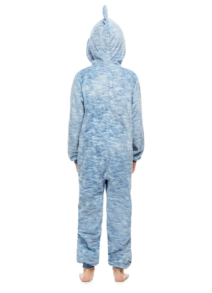 Boys Shark Pajamas | Plush Zippered Kids Animal Onesie Blanket Sleeper