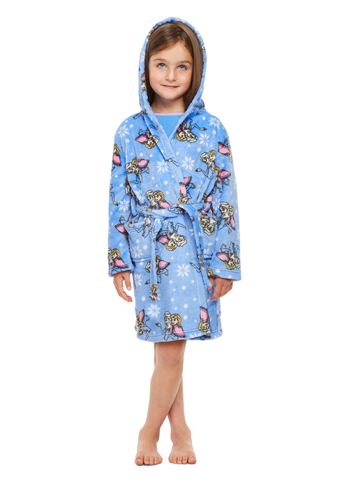 Disney Frozen Girls Sleep Robe | Soft & Comfy Fleece Hooded Bathrobe