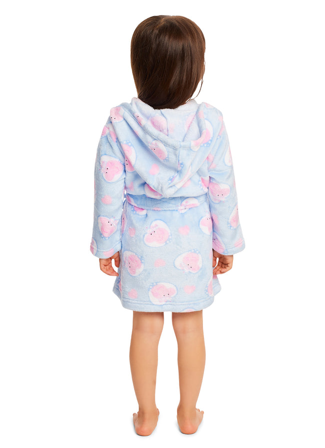Girls Peppa Pig Sleep Robe | Girls Fleece Hooded Bathrobe
