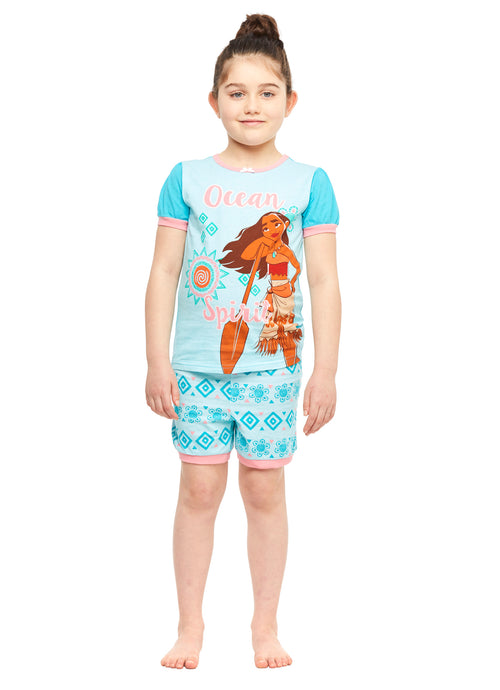 Disney Moana Girls 2-Piece Pajama Set With Shorts