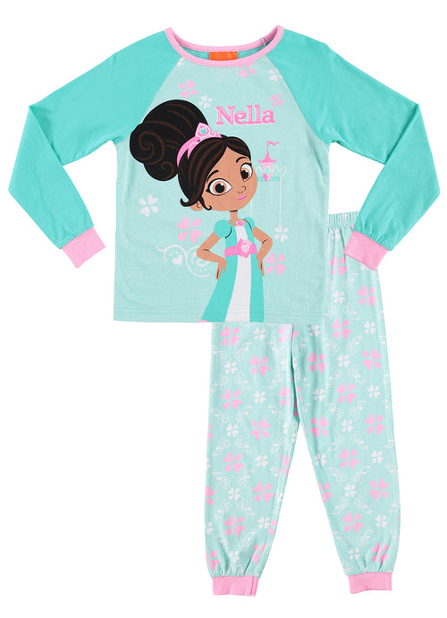 Nella The Princess Knight Pajamas | Girls 2-Piece Sleepwear | Cotton PJ Set