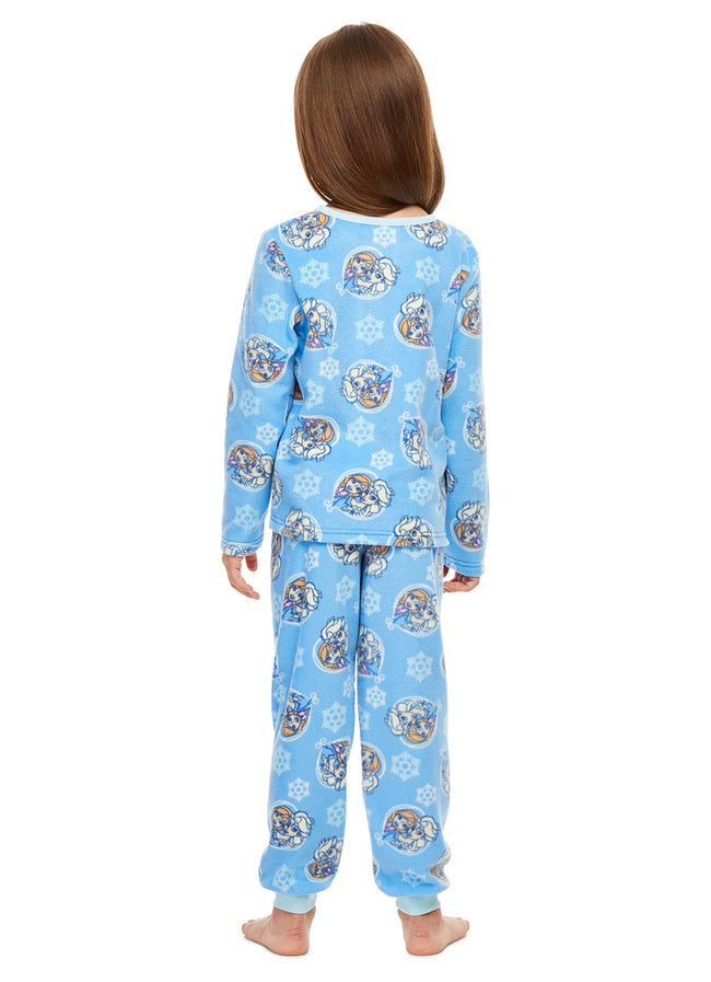 Disney Frozen 2-Piece PJ Set For Girls | Blue Fleece Pajamas For Kids