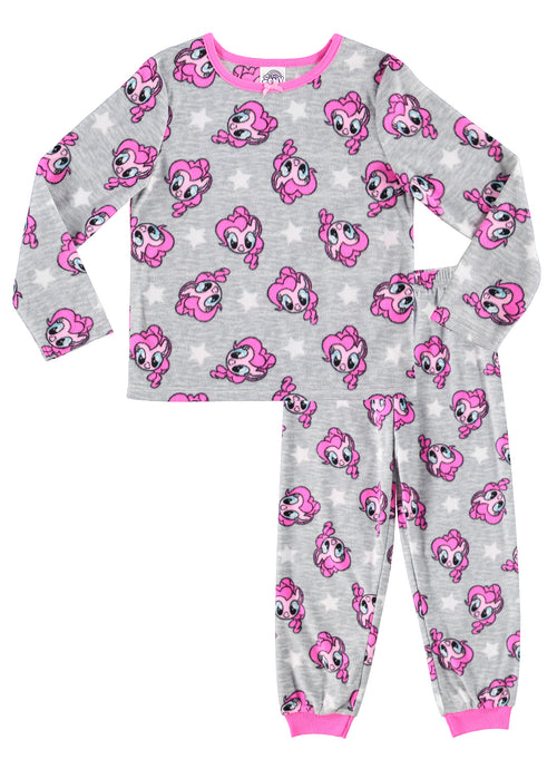 My Little Pony 2-Piece PJ Set For Girls | Grey Fleece Pajamas For Kids