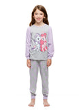 Girls 2-Piece Cotton Pajama Set, Long-Sleeve Top and Jogger Pants, My Little Pony, by Jellifish Kids