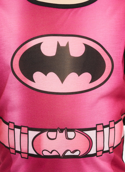 Girls 2-Piece Pajamas Set, Short-Sleeve Top and Shorts with Cape, Bat-girl, by Jellifish Kids