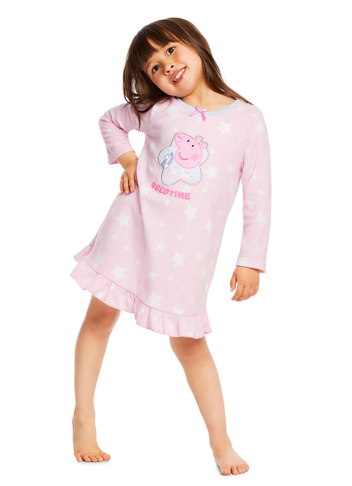 Peppa Pig Nightgown For Toddlers | Soft & Warm Sleepwear | Pink PJ Gown