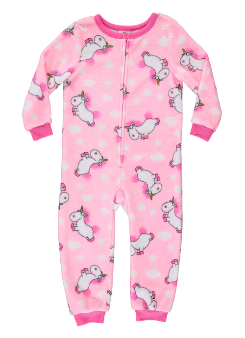 Despicable Me Agnes' Unicorn Girls Sleeper Onesie | Fleece Pajamas for Kids