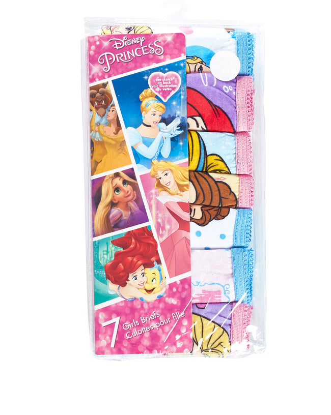 Disney Princess Girls Underwear | Briefs 7 Pack