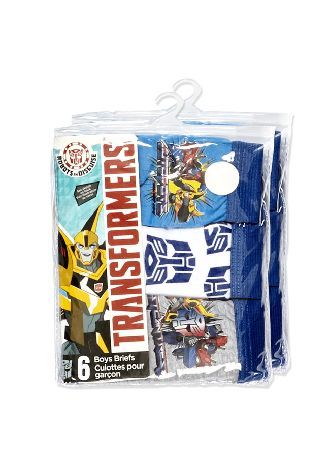 Transformers Boys Underwear | Briefs 6-Pk