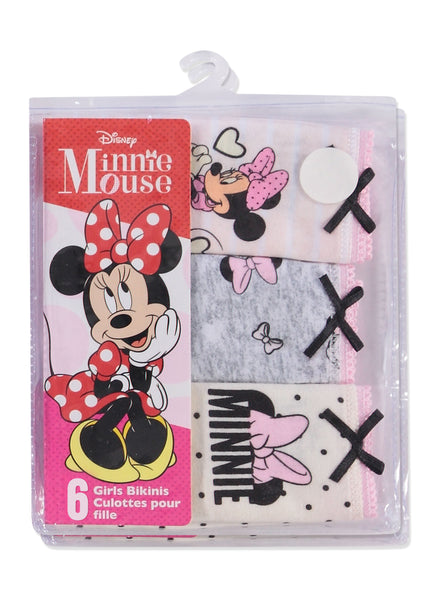 Disney Minnie Mouse Girls Underwear | Briefs 6-Pack