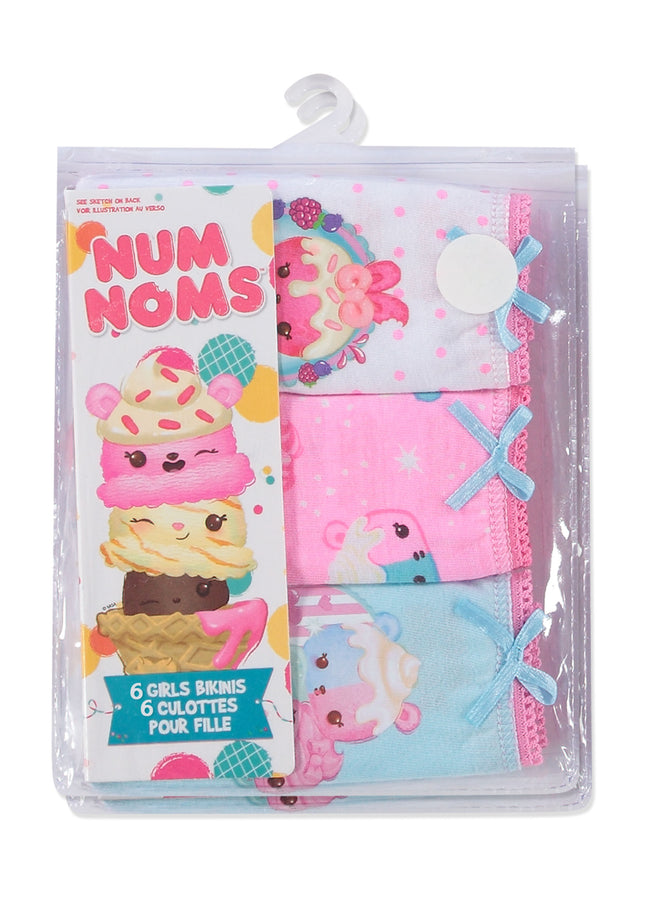 Num Noms Girls Underwear | Briefs 6-Pack