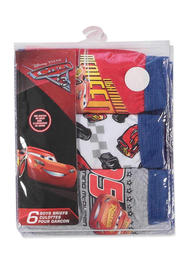 Disney Cars 3 Boys Underwear | Briefs 6-Pack