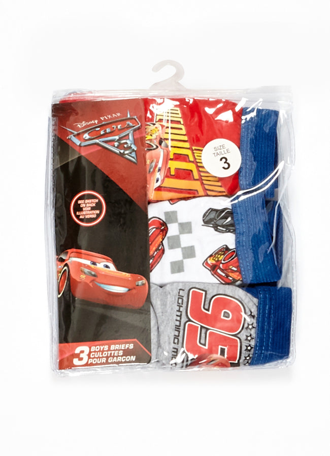 Cars Boys Underwear 3-Pack, by Jellifish Kids