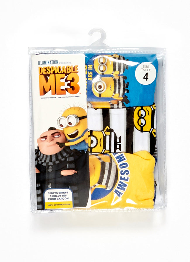 Despicable Me 2 Boys Underwear 3-Pack, by Jellifish Kids
