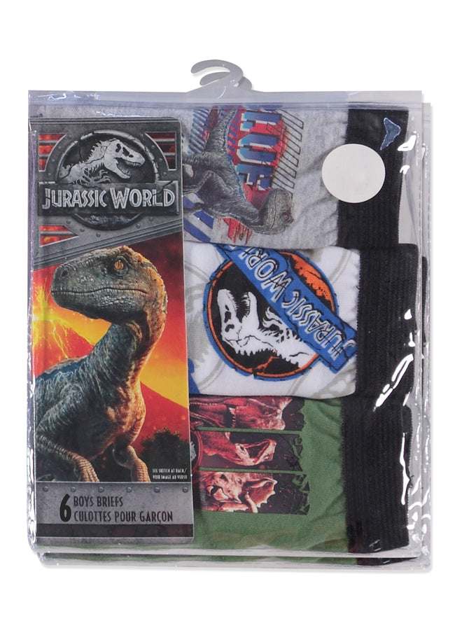 Jurassic World 2 Boys Underwear | Briefs 6-Pack
