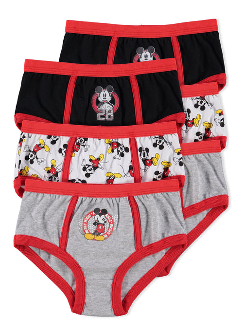 Disney Mickey Mouse Boys Underwear | Briefs 6-Pack