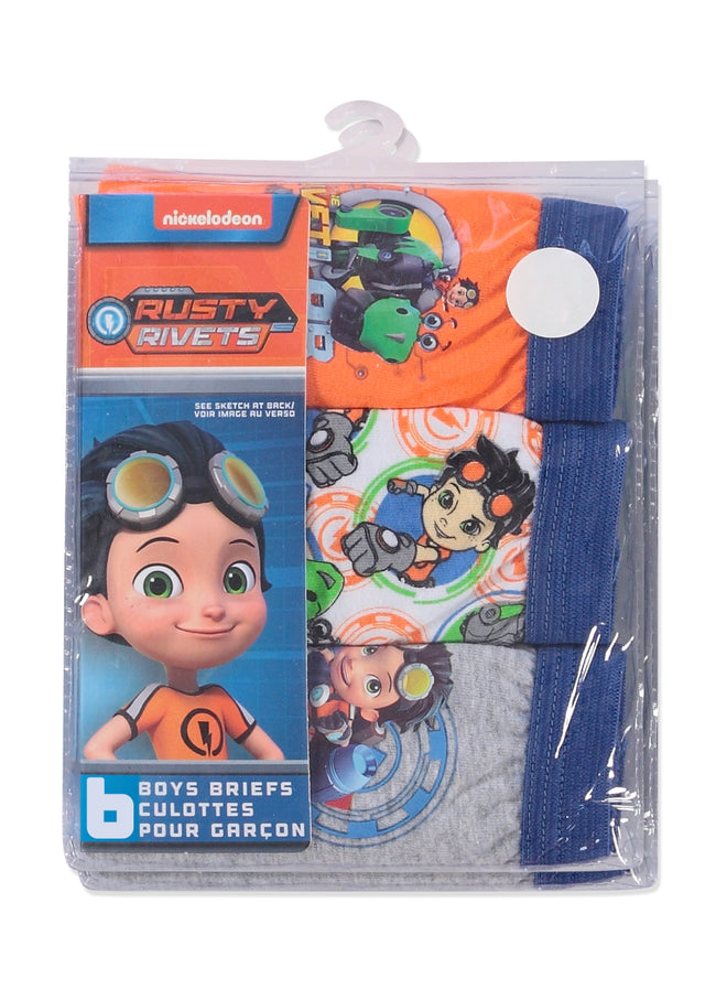 Rusty Rivets Boys Underwear | Briefs 6-Pack