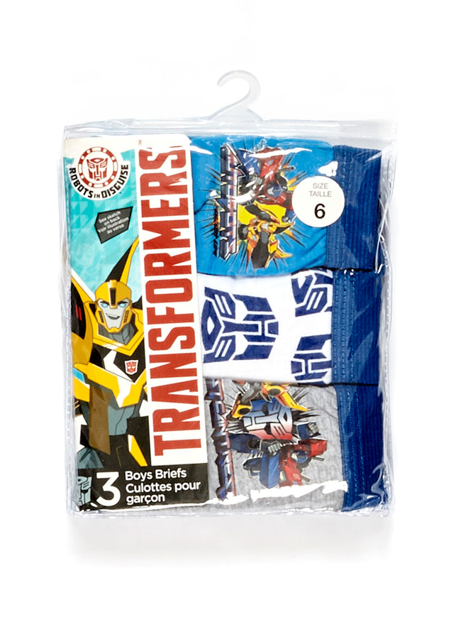 Transformers Boys Underwear 3-Pack, by Jellifish Kids