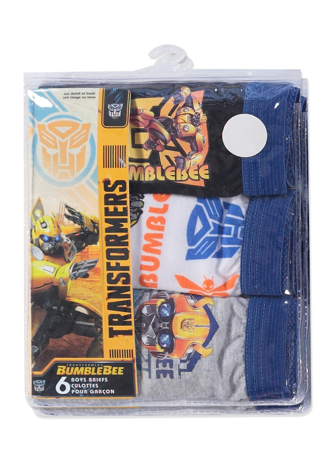 Transformers Boys Underwear | Briefs 6-Pack