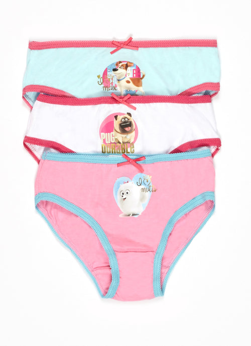 Secret Lives of Pets Girls Underwear 3-Pack, by Jellifish Kids