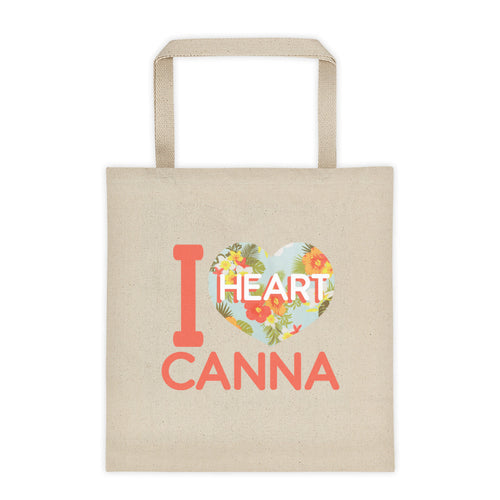 Floral IHC Logo Canvas Tote bag