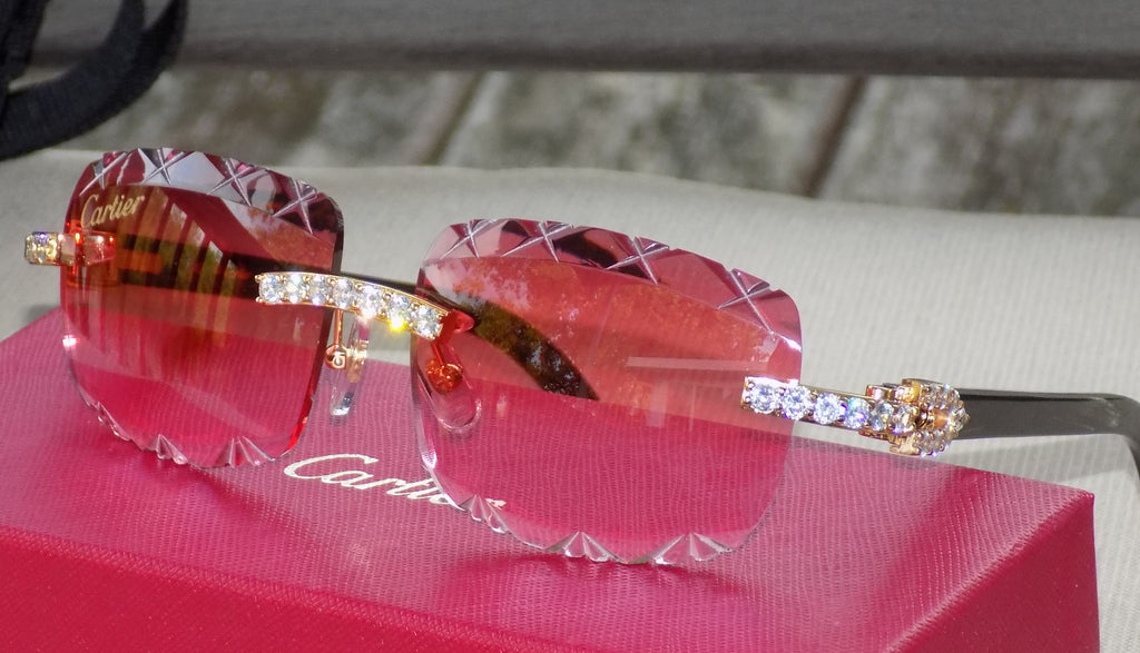 🍓 Cartier Smooth Berry Acrylic LIMITED 2020 Horn Buffalo C Décor Sunglasses
