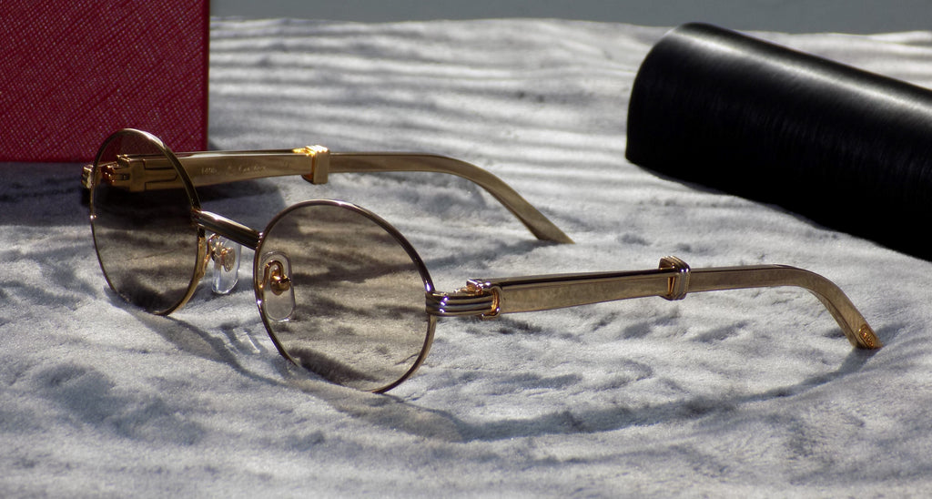 Authentic Cartier Titanium Steel Gold Limited Buffs Buffalo C Décor Sunglasses