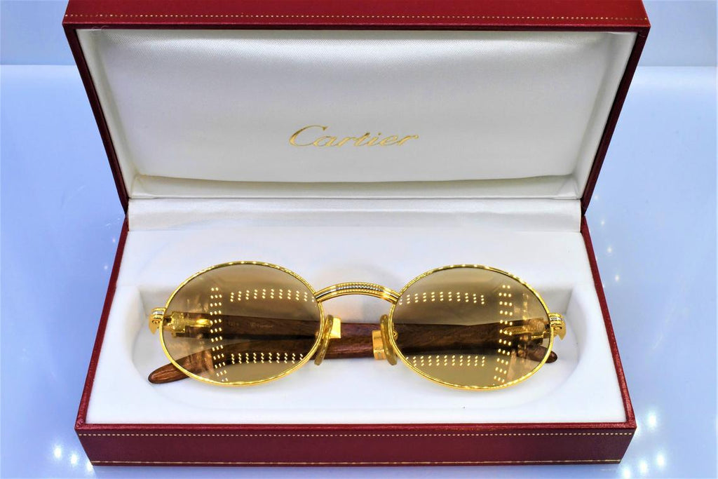 Authentic Cartier Giverny vintage sunglasses fred cardin glasses C decor New 53/22