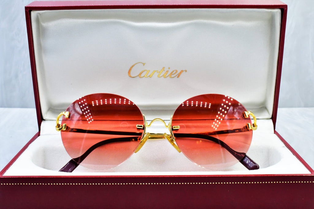 Authentic Cartier rimless vintage sunglasses fred cardin glasses C decor New