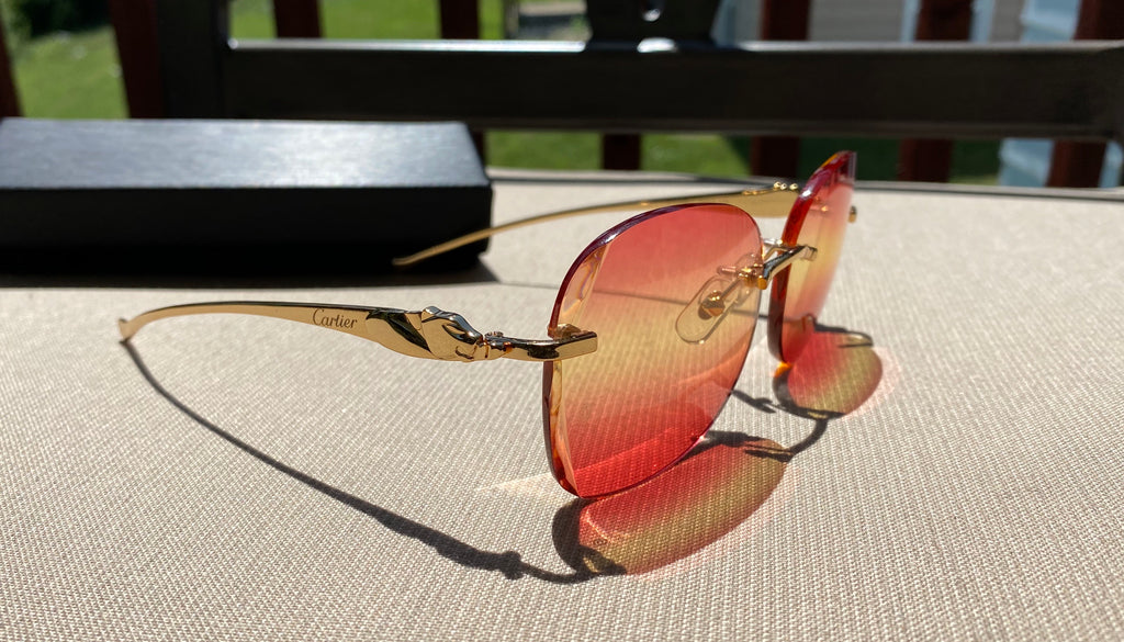 Cartier Amber Lens Panther Series 2020 Buffalo C Décor Sunglasses Shabowhita