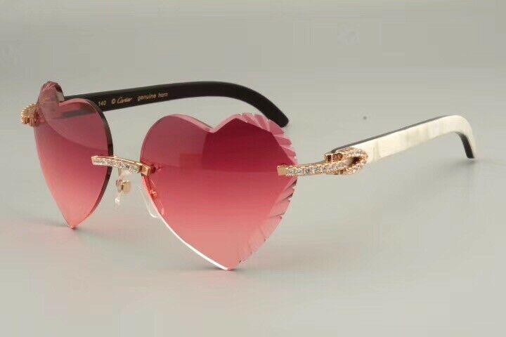 Cartier Smooth  LIMITED 2012 Heart Buffalo C Décor Sunglasses Shabowhita