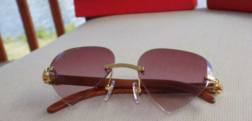 Cartier Custom Heart Series 2012 Rosewood Buffalo C Décor Sunglasses Shabowhita