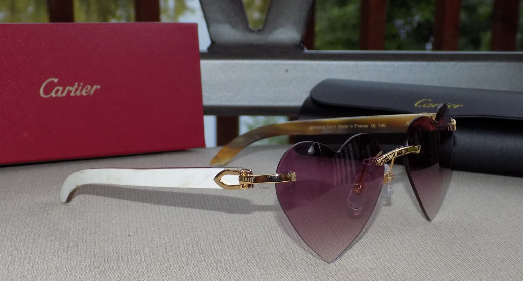 Cartier Custom Heart Valentine Series 2012 Horn Buffalo C Décor Sunglasses