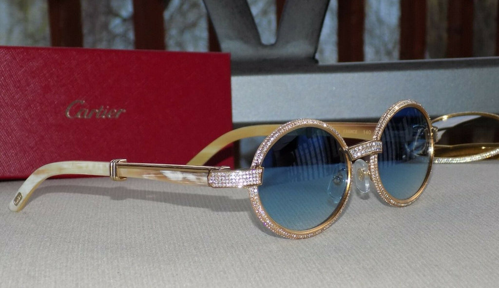 🌊 Cartier Smooth Acrylic Bezel Aqua Horn Buffalo C Décor Sunglasses Shabowhita