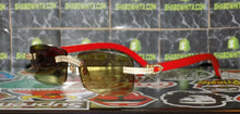 Cartier Smooth Acrylic LIMITED 2019 Redwood Buffalo C Décor Sunglasses